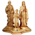 Holy Family Olive Wood Carving
