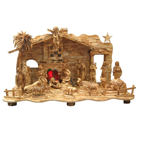 Olive Wood Nativity Sets